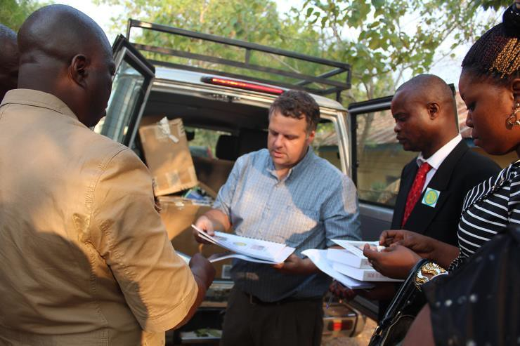 Discussing CALI Resources to Education Contacts in Boma, Bas-Congo June 2014