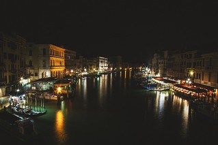 Nighttime views in Venice.