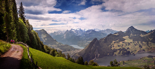 trees panorama mountains alps clouds switzerland hiking... (Photo: Chrisnaton on Flickr)