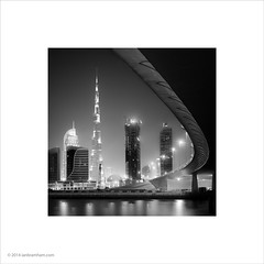 Burj Khalifa, Dubai (Ian Bramham) Tags: bw architecture night photo dubai ianbramham burjkhalifa