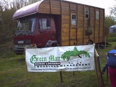 Green Man horse logging