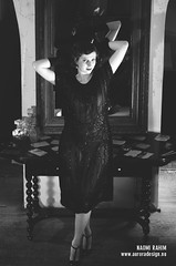 Milky Butterfly - burlesque photoshoot (Naomi Rahim (thanks for 2 million hits)) Tags: 1920s portrait bw italy rome roma girl fashion bar vintage blackwhite model glamour nikon italia photoshoot retro showgirl burlesque alternative starlet lbd starlette nikond7000 milkybutterfly naomirahim