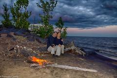 Feu-de-camp au bord du lac St-Jean ( campfire on the beach) (natola) Tags: sunset lake nature landscape fire lac paisaje romance qubec romantic lover paysage plage saguenay coucherdesoleil crepsculo sepaq lacstjean