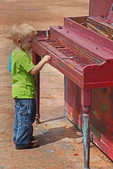 Ballad of the Paint (Cricket Kaya) Tags: boy musician music cute art kids canon painting children photography kid paint flickr artistic little drawing piano adorable musical instrument littleboy cricketkaya