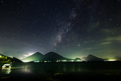 Cosmic dance (jognroll) Tags: lake way lago volcano via atitlan volcanoes milky volcan lactea