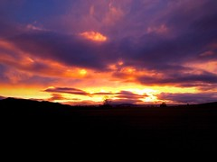 Beauty In Nature (GreG ☏ G.G [ iPhoneOgraphy ]) Tags: sunset beautyinnature sky nopeople tranquility landscape tranquilscene outdoors cloudsky nature scenics auvergnerhonealpes sunsetcollection field myauvergne firesky auvergne clouds