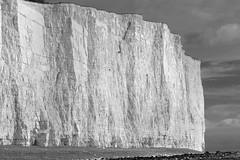 Chalk Cliffs Of Birling Gap - IR Mono (Julian Barker) Tags: birling gap east sussex south coast england chalk cliff cliffs texture abstract sense scale beach edge land julian barker canon dslr 600