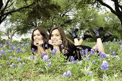 Sisters 0012 (Scott Sanford) Tags: 6d canon ef2470f28l eos outdoor texas topazlabs beautiful graduation portrait seniorportraits sisters twins teenage girls highschool women people spring park flowers wildflowers bluebonnets 2017 senior