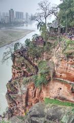 Leshan stairway (Rob McC) Tags: sandstone geology stairwaycarvings leshan sichuan china stairs steps winding waterfront stairway
