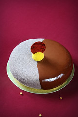 """""""Cointreau"""" Entremet (Мiuda) Tags: background baking burgundy cake celebrate cheesecake chef chocolate chocolateglaze chocolatemirrorglaze christmas closeup cocoa cold contemporary covered dark decoration delicious dessert eclipse entremet food france french gelatin glaze gourmet holiday icecream icing luxury macro mirrorglaze modern mousse party pastry patisserie patissier powdered professional red round spray sugar sweet topping velvet whole"""