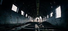 Forgotten (Camille Marotte) Tags: 2013 plane metal iceland douglas wreckage panoramic perspective onepoint oneperson canon old travel adventurer adventure backpack dc3 alexandredeschaumes tunnel exploration urban crash destroyed 1dc sigma vik abandonned silhouette
