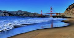reflections (Rex Montalban Photography) Tags: rexmontalbanphotography goldengatebridge sanfrancisco california bakerbeach