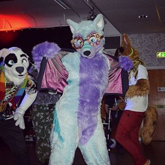 Just being smexy x3 #dance #steampunk #purple #blue (Keenora Fluffball) Tags: keenora fursuit furry kee