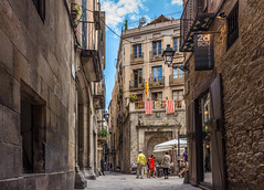 Gothic Quarter, Barcelona (emilqazi) Tags: barcelona catalonia spain gothic quarter city cityscape street people travel architecture summer
