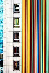 Paris_0317-205-2 (Mich.Ka) Tags: paris art artcontemporain building cheminéemoretti cityscape color colorfullwall couleur fenêtre immeuble ladefense ligne line moretti mur reflection reflet streetart town urbain urban ville wall window îledefrance