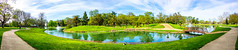 Elk Grove Regional Park Panorama (randyherring) Tags: recreational elkgroveregionalpark elkgrove nature water aquaticbird outdoor lake clouds trees sidewalk waterfowl fountain california centralcaliforniavalley island sky park panorama ca ducks afternoon unitedstates us