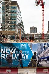 New Railway (cybertect) Tags: canonfd50mmf14 cityoflondon crossrail ec2 london londonec2 moorgate sonya7 construction constructionsite crane towercrane