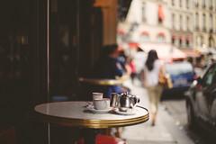 (ninasclicks) Tags: paris street cafe coffee cups table travel woman bokeh girl silhouette dof