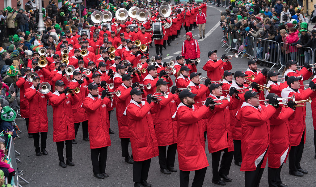 Illinois State University's Big Red Marching Machine [St. Patricks Parade 2017]-125851