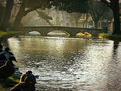 Bourton River Ducks wake up (captainmorganme) Tags: river bourtononthewater windrush gloucestershire cotswolds whyilovethecotswolds uk bridge water village england quaint unitedkingdom