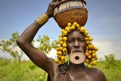 Mursi woman. (María Velázquez de Castro) Tags: ethiopia etiopia mursi woman tribe tribu mujer omo plato plate