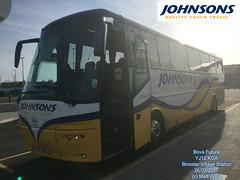 JOHNSONS COACHES OF HENLEY IN ARDEN BOVA FUTURA YJ12 KGA BICESTER VILLAGE STATION 26032017 (MATT WILLIS VIDEO PRODUCTIONS) Tags: johnsons coaches of henley in arden bova futura yj12 kga bicester village station 26032017