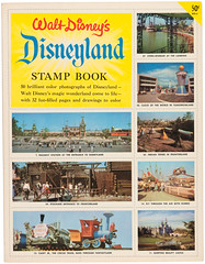1956 Disneyland Stamp Book 01 (Tom Simpson) Tags: disney vintagedisney disneyland stampbook stamp stamps 1956 1950s vintage vintagedisneyand caseyjonesjr sleepingbeautycastle tomorrowland clockoftheworld dumbotheflyingelephant marktwainriverboat marktwain frontierland fantasyland