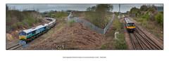 Bardon Aggregates & West Burton freights at a much cleared Woodburn Junction - 1919/923/929 (Dao-Haiku) Tags: woodburnjunction gbrf class66 66711 sence 6m83 tinselyyardgbrftobardonhillgbrf freightliner 66602 6e08 hopeearlessidingstowestburtonpowerstation northernrail class144 144012 evolution 2p63 scunthorpetolincolncentral eastmidlandstrains class222 meridian 222009 5c42 sheffieldmidlandplatform2atosheffieldmidlandplatform6 attercliffejunction darnalleastcurve darnalljunction attercliffestation woodburnjunctionsignalbox darnallengineshed code39b code41a darnallflyover southyorkshiremetals searchsheffieldltd williamcookcastproducts morrismetalmerchants liebherr924litronic brownbayleysteelworks signalw0214 graffiti signalw0212 sheffieldpsb signalw0213 signalw0215