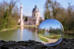 mosque in a crystal ball (Sabinche) Tags: crystalball mosque schwetzingen panasonic lumix dmcfz2000