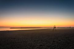 Foggy Sunrise... (Francizc Chachula) Tags: nikon d7200 18105mm sunrise constanta beach sea blacksea water orange blue nature natural fog composition fading colors color modern romania march 2017 spring