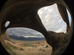 Alabama Hills Arch Fisheye (Jeffrey Sullivan) Tags: alabama hills recreation area blm iphone 6s apple iphone6splus mobile phone cellphone camera images iphoneography california usa photo copyright 2016 jeff sullivan april bureauoflandmanagement lonepine easternsierra inyocounty olloclip fisheye lens