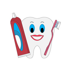 tooth-with-brush-and-paste-2 (brucemurdock) Tags: dentistry dentist tooth teeth toothpaste toothbrush dental health illustration