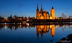 Sint-Martinuskerk Cuijk (www.petje-fotografie.nl) Tags: bluehour cuijk lle maastricht zonsondergang kerk