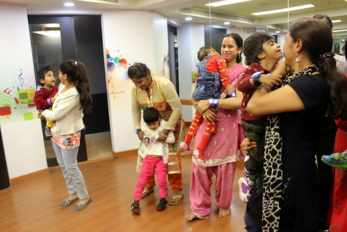 KidZania Tour for Kids with disabilities:Younger children of the group were accompanied by their parents at the dance session!