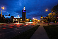 Plaza's Blue Hour (KC Mike D.) Tags: hour blue plaza club country kcmo kc missouri evening lights trails exposure long canon 60d