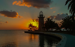 Boca Chica lighthouse in the late afternoon. © ® (The Sergeant AGS (A city guy)) Tags: bocachica lighthouse lateafternoon colors sunset clouds coconuttree waterways walking walkingaround outdoors beach beachscape sea seashore skies