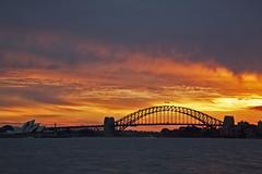 Sydney Sunset (A R I A) Tags: sydney australia flickr sunset harbour bridge operahouse harbourbridge canon photographer dusk sky clouds red 5dmkiii ef24105