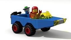 CS DUKW (David Roberts 01341) Tags: dukw duck amphibious 4x4 allterrain car lego ldd digital povray classicspace scifi minfigure funspacemen toy