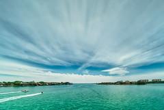 Midday at New Pass in Sarasota (justenoughfocus) Tags: boats gulfofmexico sarasota sonyalpha types clouds cloudscape florida gulfcoast landscapephotography lidokey longboatkey manateecounty unitedstates us