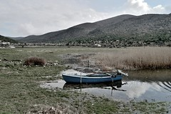 Lakeshore CSC_1346 (joanna papanikolaou) Tags: lake lakescape lakescenery lakeshore landscape prespes macedonia greece scape scene scenery scenic field fishing boat travel exploration nature national park reflections