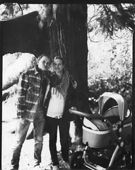 family portrait 2 (Scenes from the life of a double monster) Tags: 45 largeformat schneider linhof blackandwhite bw blackwhite spring ireland directpositive harman ilford