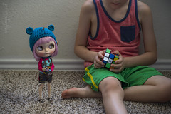 "Galland's ""Rubik's cube competition 2017"" (Dolly Adventures in the Galland Household) Tags: blythe doll custom collectibles childhood cute hobbies dollphotography dollartistry rubiks cube rubikscube ttya simply lilac"