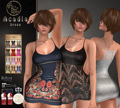 ***ArisarisB&W~Alus01~Acadia Dress~VENDOR PIC (ArisAris & Armony - Ariadna Garrigus) Tags: mesh meshes standars hud babydoll white black promotion dress camouflage pinup gift slink maitreya sexy body panties lace retro chick bohemian tmp belleza denim embroidery secondlife