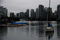 the boat (MoisesP) Tags: vancouver britishcolumbia canadá boat sea water landscape city