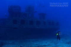 Side view of the YO-257 wreck (Nicolas & Léna REMY) Tags: wreck underwater ocean boat rebreather america nauticam poseidon honolulu oahu usa hawaii inon pacificocean amerique bateau diving hawaï mer photography plongée recycleur scuba sea épave étatsunis