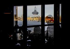 Stockholm (Calinore) Tags: stockholm fotographiska muséedelaphotographie restaurant view sea mer silhouette reflet reflection fotografiska suede sweden architecture city ville street rue