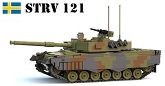 Stridsvagn 121 (Matthew McCall) Tags: lego tank military army war sweden swedish strv 121 stridsvagn leopard 2a4 mbt moc