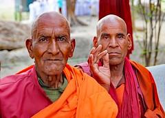 "Buddhist monks - Agra (grab a shot) Tags: ""eos 7d mark ii"" india agra 2017 outdoor buddhistmonk men monk"