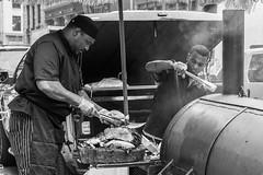 Island Spice Grill (FourteenSixty) Tags: islandspicegrill newyork nyc unionsquare barbecue beefbrisket chicken jerk caribbean bbq smoke monochrome blackwhitephotos