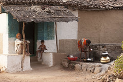 Village life (wietsej) Tags: village life tribal rural kawardha chhattisgarh india sony sal70200g 70200 family peope